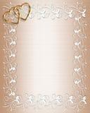 Wedding Invitation Border Satin royalty free illustration