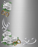 Wedding Invitation Border White Roses Royalty Free Stock Image