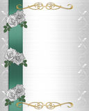 Wedding Invitation Border white roses Royalty Free Stock Photography