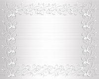 Wedding Invitation Border White Satin Stock Image