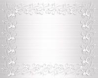 Wedding Invitation Border White Satin royalty free illustration