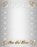 Wedding Invitation Border White Satin Royalty Free Stock Photography