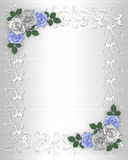 Wedding Invitation Border White Satin Royalty Free Stock Image