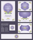 Wedding Invitation / Bridal shower with floral bouquets and wreath design. Wedding Invitation - Bridal shower with floral bouquets and wreath design, Suitable Stock Photography
