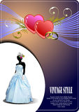 Wedding invitation with bride image Stock Image