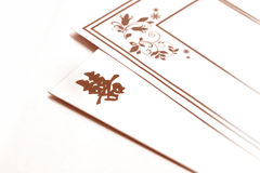 Wedding invitation card. Chinese wedding invitation card in sepia on white background royalty free stock photos