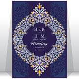 Wedding invitation or card with abstract background. Islam, Arabic, Indian, Dubai Royalty Free Stock Image