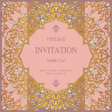 Wedding invitation or card with abstract background. Islam, Arabic, Indian, Dubai Stock Photography