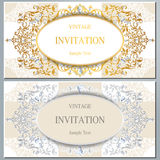 Wedding invitation or card with abstract background. Royalty Free Stock Photos