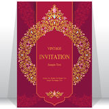 Wedding invitation or card with abstract background. Royalty Free Stock Image