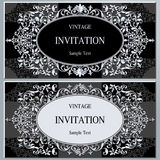 Wedding invitation or card with abstract background. Stock Photography