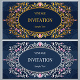 Wedding invitation or card with abstract background. Stock Images