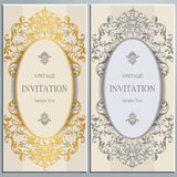 Wedding invitation or card with abstract background. Stock Photos