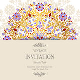 Wedding invitation or card with abstract background. Royalty Free Stock Images