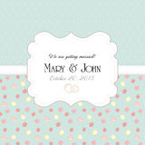 Wedding invitation card with abstract floral Stock Image