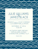 Wedding invitation card with abstract water background Royalty Free Stock Photos
