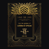 Wedding Invitation Card - Art Deco Stock Photos