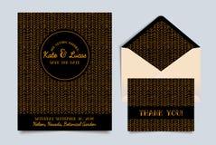 Wedding invitation card Art Deco Stock Image