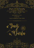 Wedding Invitation Card Background Design Template. Vector Isolated Background with vintage ornament border. Vector Isolated Illustration Eps 10 editable royalty free illustration