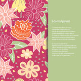 Wedding invitation card with beautiful floral background. Can be used as invitation card for wedding, birthday and other holiday Stock Photos