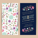 Wedding Invitation Card With Beautiful Flowers Royalty Free Stock Image