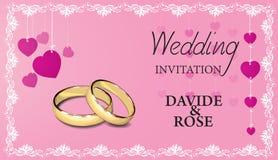Wedding invitation card Royalty Free Stock Photo