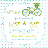 Wedding Invitation Card -Bicycle Theme Stock Photography