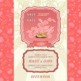 Wedding invitation card Stock Photography