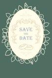Wedding invitation card Stock Images