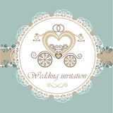Wedding invitation card with carriage Stock Image