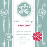 Wedding invitation card with carriage Stock Images