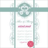 Wedding invitation card with carriage Stock Photography