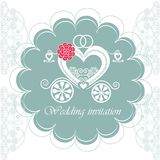 Wedding invitation card with carriage Stock Photo
