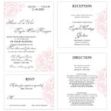 Wedding Invitation Card. Wedding Invitation Cart Template with floral ornaments vector illustration