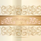 Wedding invitation card in classic style Stock Photography