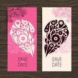Wedding invitation card with decorative stylish Stock Images