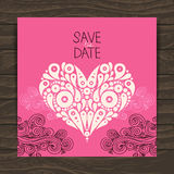 Wedding invitation card with decorative stylish Royalty Free Stock Photo