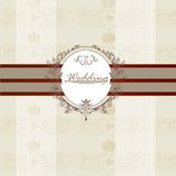 Wedding invitation card for design Royalty Free Stock Photos