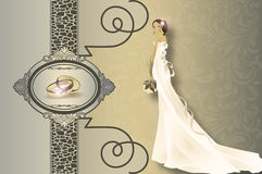 Wedding invitation card design. Stock Image