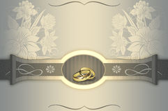 Wedding invitation card design. Royalty Free Stock Photo