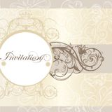 Wedding invitation card for design Royalty Free Stock Images