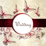 Wedding  invitation card for design Royalty Free Stock Photography