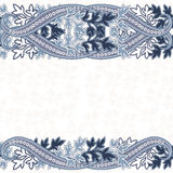 Wedding invitation card with  ethnic flower paisley ornament. Stock Photography