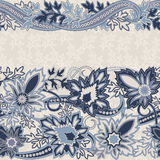 Wedding invitation card with  ethnic flower paisley ornament. Royalty Free Stock Photography
