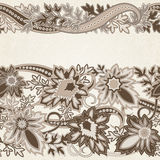 Wedding invitation card with  ethnic flower paisley ornament. Stock Image