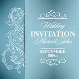 Wedding invitation card with floral elements Stock Image