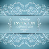 Wedding invitation card with floral elements Stock Photos