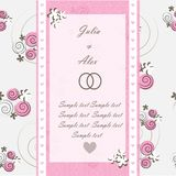 Wedding invitation card with floral elements Stock Photo