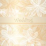 20)Wedding invitation card with floral elements Stock Photography