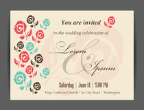 Wedding invitation card Stock Image